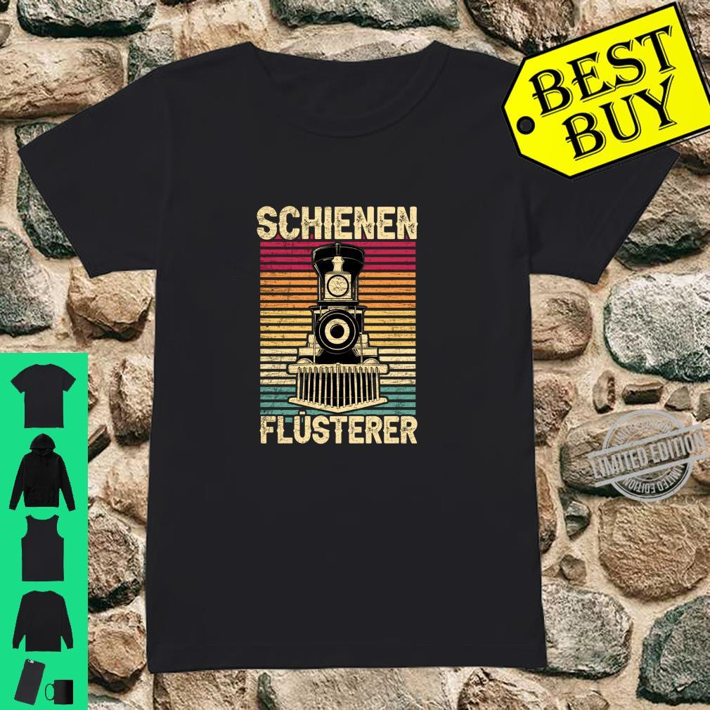 Dampflokomotive Lokomotive Eisenbahn Schienen Flüsterer Langarmshirt Shirt ladies tee