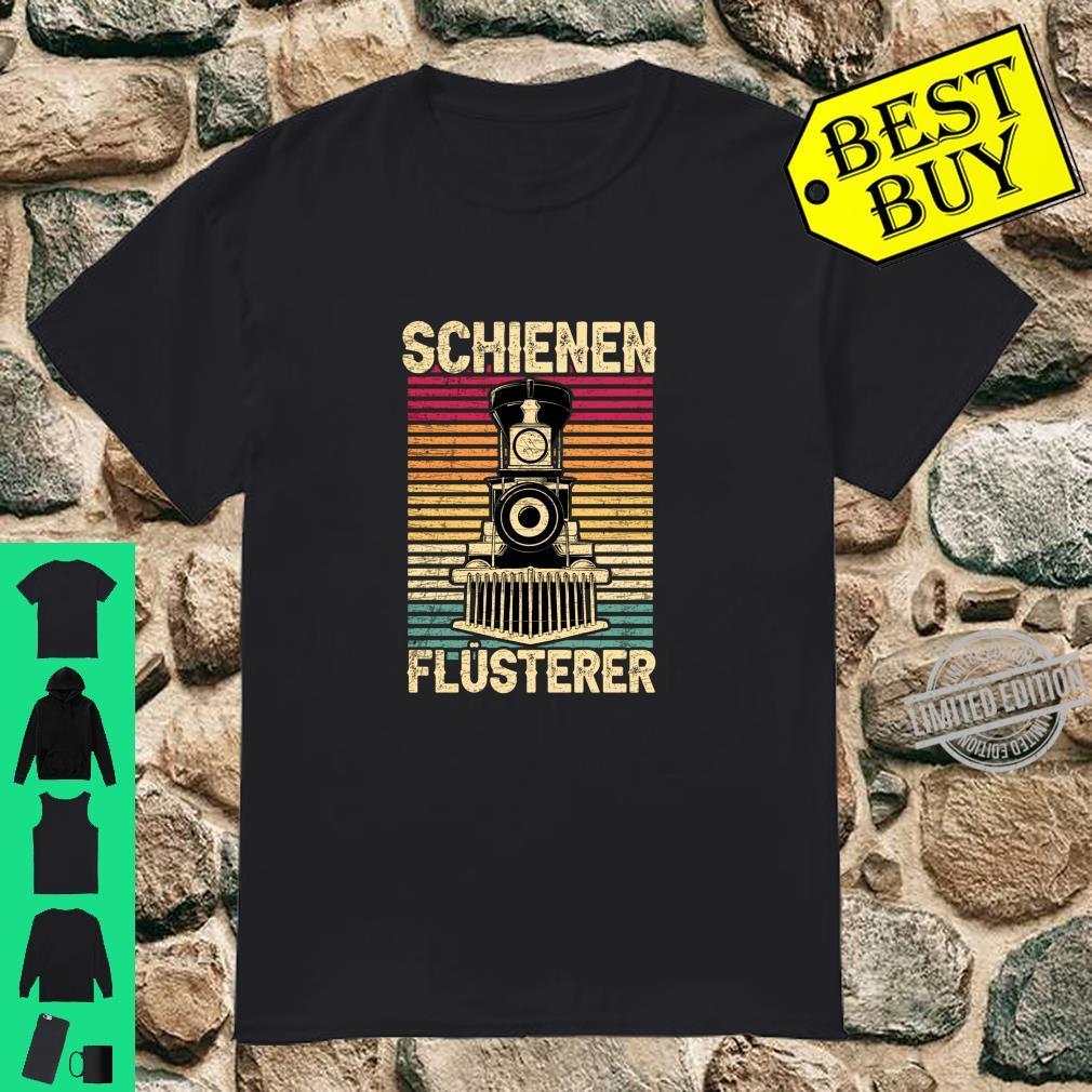 Dampflokomotive Lokomotive Eisenbahn Schienen Flüsterer Langarmshirt Shirt