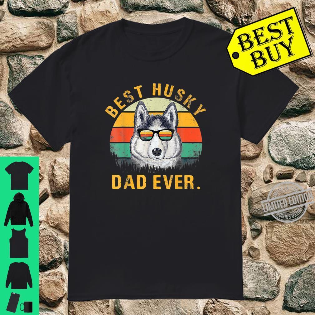 Dog Vintage Best Husky Dad Ever Fathers Day Shirt